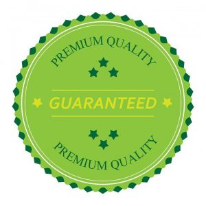 Premium quality guaranteed green sign