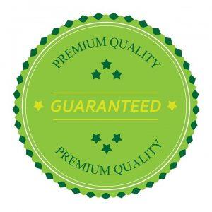 Premium quality guaranteed green sign