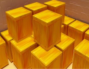 storage boxes stacked