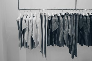 Suits hanging in a wardrobe