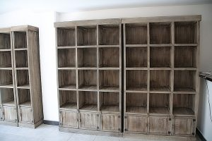 Include shelves into your storage unite organizing.
