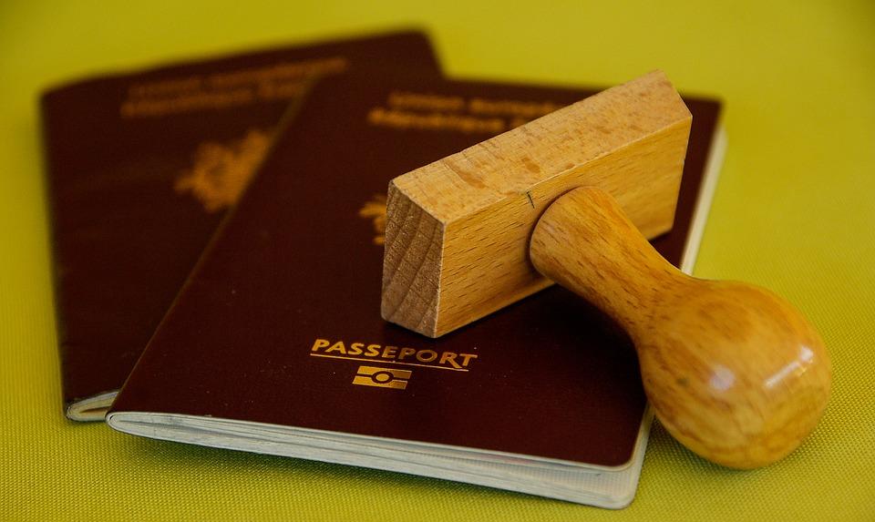 Passports and stamp.