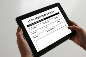 Job application form as part of Canada guide for newcomers