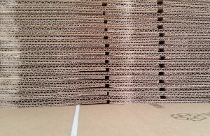 Stockpiled cardboard boxes