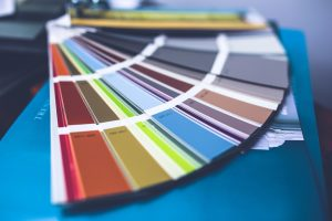 Choosing a color palette is important when living in smaller space