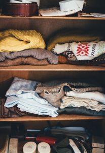 cabinet with clothes