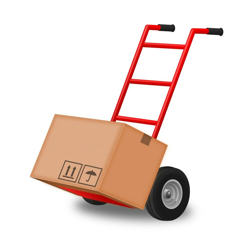 a moving dolly - Hire good movers when moving to a colder climate.