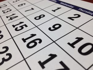 calendar representing a deadline that influences How long does it take to plan a local move in Ontario