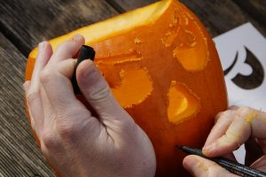 celebrate Halloween in Canada by carving scary pumpkins